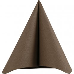 grande serviette de table marron 40x40 cm 20 pieces