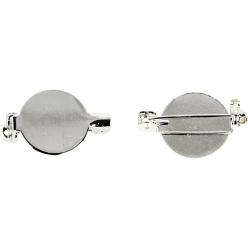 broche ronde a epingler 20 mm argente 5 pieces