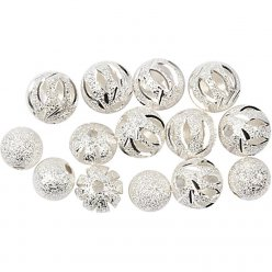 perles scintillantes assortiment 8  10mm 10 pieces