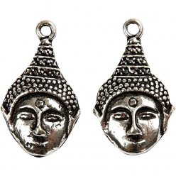 ornements mode dim 28x15x2 mm bouddha 2 pieces