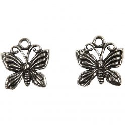 ornements mode 15x15x2 mm papillon 6 pieces