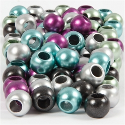 perles pony 10mm trou 4 mm