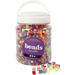 perles carrees lettres de a a z couleurs assorties 700 ml