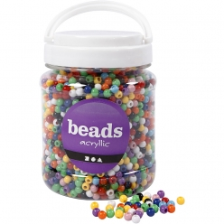 perles pony 6mm assortiment 700 ml