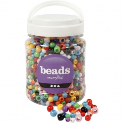 perles pony 6  10mm assortiment 700 ml