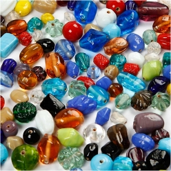 perles en verre 7  18 mm assortiment 1000gr