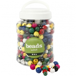 perles en bois colore mix 8  12 mm 400 ml