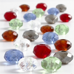 perle en verre 9x14 mm assortiment 24 pieces