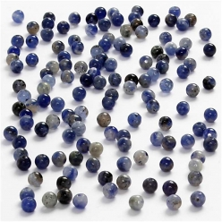Perles en pierre Sodalite 3mm - 120pcs