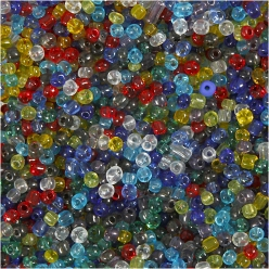 mix de perles rocailles transparentes 1 kg 4mm
