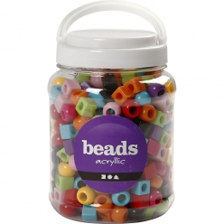 perles multi mix plastique 11mm 700 ml