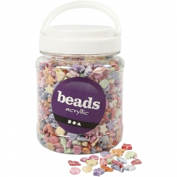 perles pastel theme ocean 9  12 mm assortiment 700 ml
