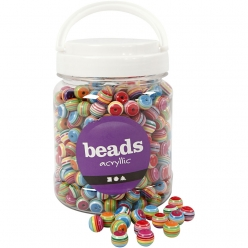 perles plastique multi mix 12 mm assortiment