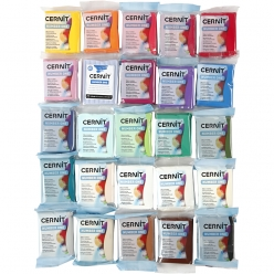 pate a modeler cernit assortiment 25 coloris de 56g