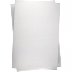 plastique fou 20x30 cm brillant transparent 10 feuilles