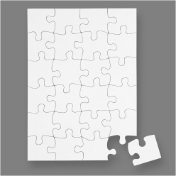 puzzles a decorer en carton blanc a5 16 pieces