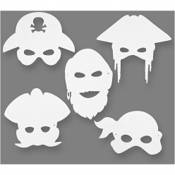 masques de pirates 16 26 cm 16 pieces
