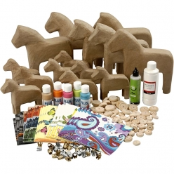 kit decor chevaux fantaisie 20 pieces