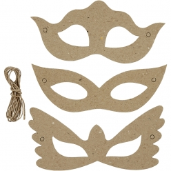 masques carton 18 cm assortiment 30 pieces