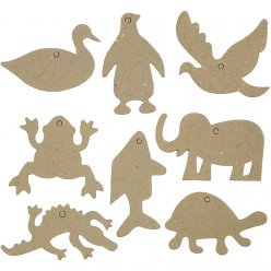animaux plat en carton 5  12mm assortiment 80 pieces