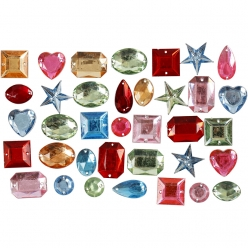 pierre de strass percees 15  17 mm assortiment 15 gr