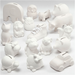 tirelires en terre cuite assortiment de 106 pieces