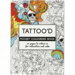 livre de coloriages antistress theme tatouage