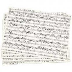 papier kraft imprime a4 notes de musiques