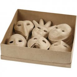 masque enfant papier mache ideal ecole 60 pieces