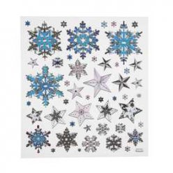 stickers scintillants flocons neige