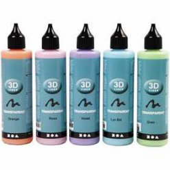 assortiment peinture liner transparents 5x100 ml