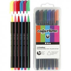 marqueurs colortime fineliner 07 mm 12 pieces