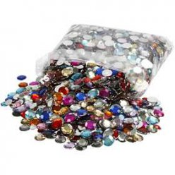 pierre de strass assortiment 6  12 mm