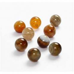 perles en agate 12mm brillantes  16pcs