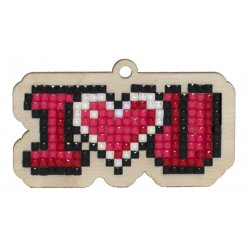 kitbroderie diamant enfant sur bois  i love you