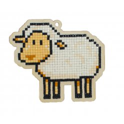 Kit Broderie Diamant Enfant sur Bois - Dolly le mouton