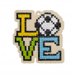 kitbroderie diamant enfant sur bois  love football