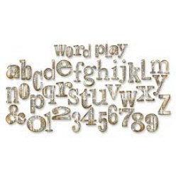 die bigz xl  alphabet  word play by tim holtz