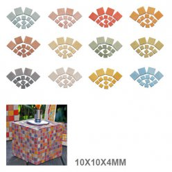 mosaique byzantic 10x10x4mm