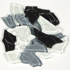 mosaique verre crash melange gris