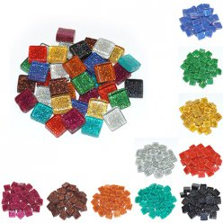 mosaique soft glas glitter 10x10x4mm