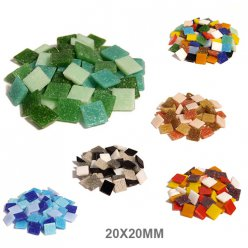 mosaique verre joy assortiment 20x20x4mm