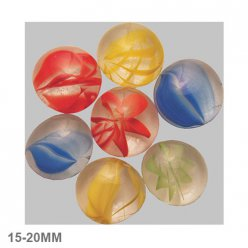 nuggets en verre 15  20mm melange multicolore dessine