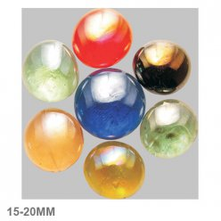 nuggets en verre 15  20mm melange multicolore iridescent