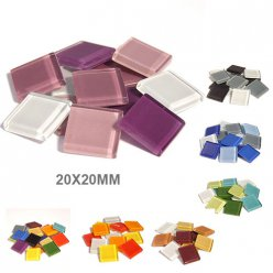 mosaique soft glas assortiment 20x20x4mm