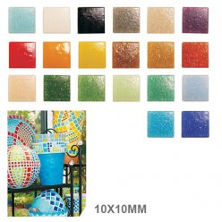 mosaique verre joy 10x10x4mm