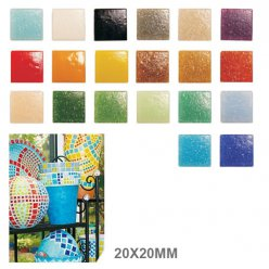 mosaique verre joy 20x20x4mm