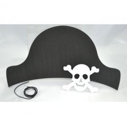 lot de 10 chapeaux de pirates 10 tetes de mort en mousse