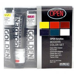 open set de 6 tubes 22 ml pigments modernes