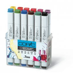 set copic marker  12 couleurs vives